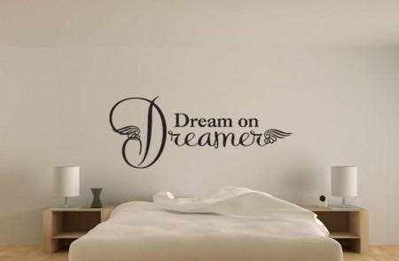 Dream on dreamer wall decal sticker