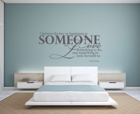 Key to happiness wall decal sticker