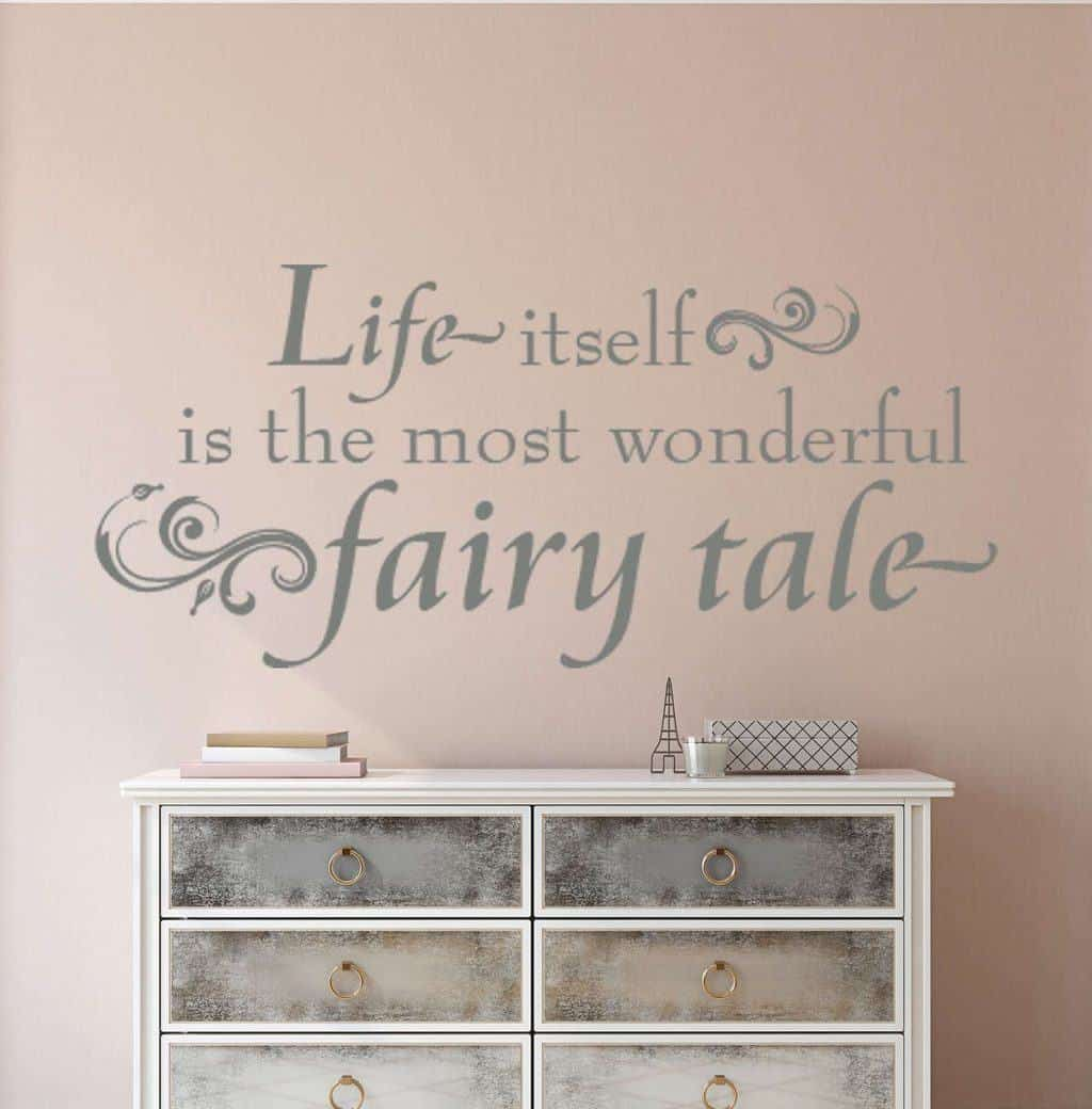 Life fairytale wall decal sticker