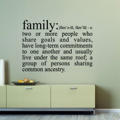 Family definition wall sticker