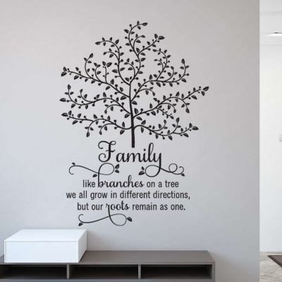 Family tree wall sticker