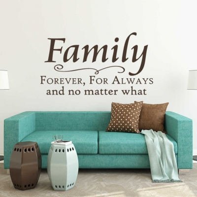 Family forever wall decal sticker