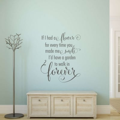 A flower for every time you made me smile wall decal sticker