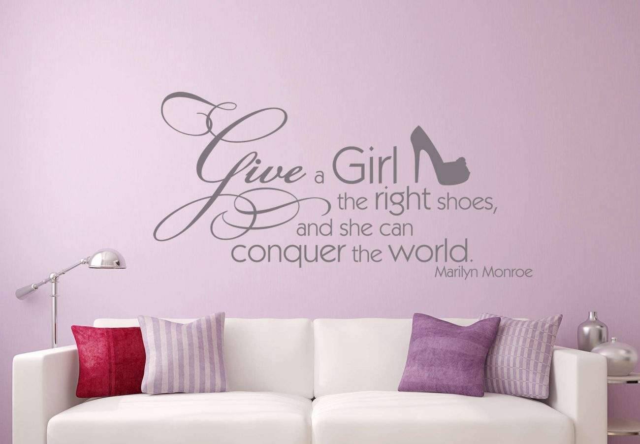 Give a girl the right shoes wall decal