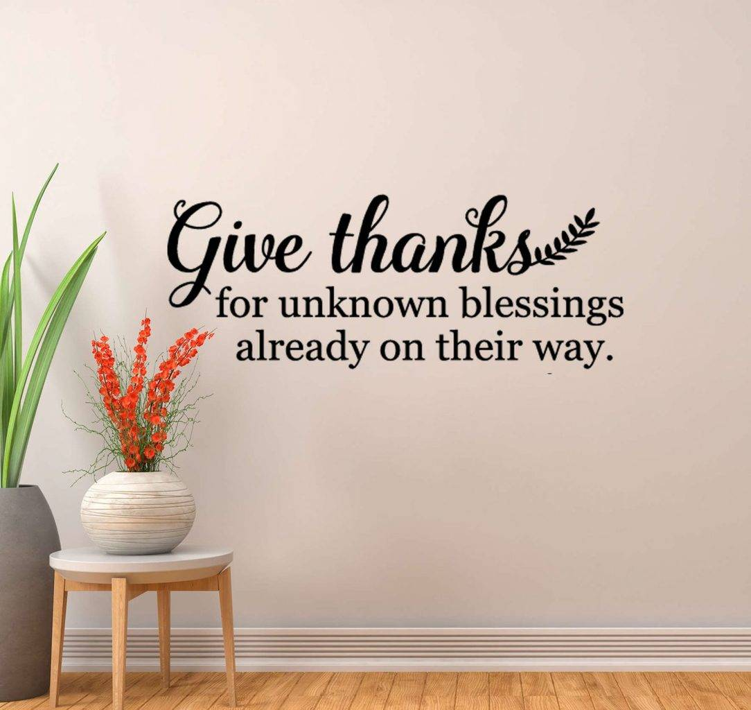 Give thanks wall decal sticker