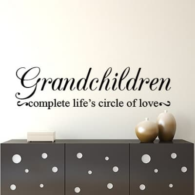Grandchildren wall decal sticker