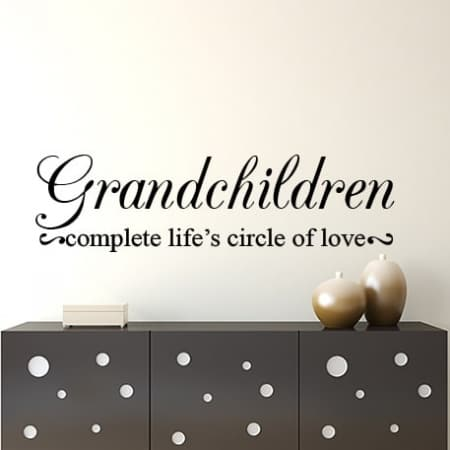 Grandchildren wall decal sticker