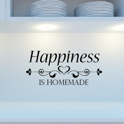 Happiness is homemade wall decal sticker, Happiness Homemade Wall Decal, Happiness Homemade Wall sticker, Kitchen Wall Decal, home wall quote, Wall Decal, kitchen wall decal, kitchen wall sticker, personalised kitchen wall decal, family name wall decal, custom family name wall decal, kitchen wall quote, kitchen wall words, personalised wall sticker for kitchen