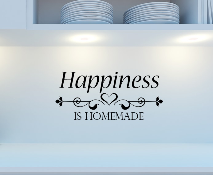 picture about Happiness is Homemade identify Contentment is home made wall decal sticker