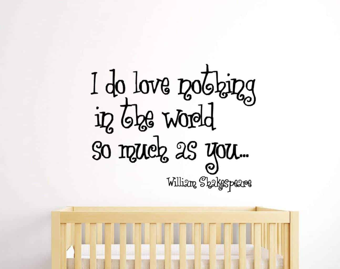 I do love nothing in the world as much as you wall decal sticker