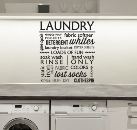 Laundry room wall decal sticker