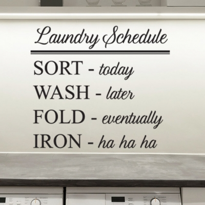Laundry schedule laundry room wall decal sticker