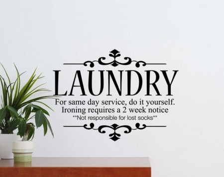 Laundry wall decal sticker