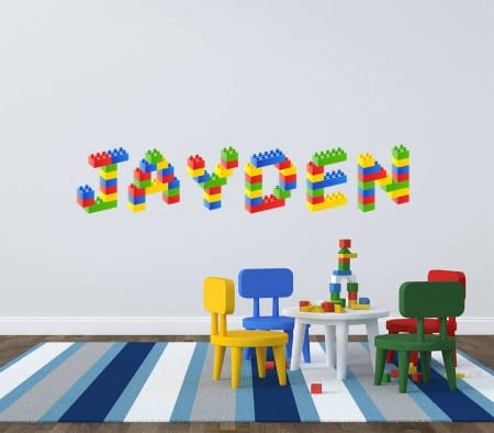Personalised name Lego blocks