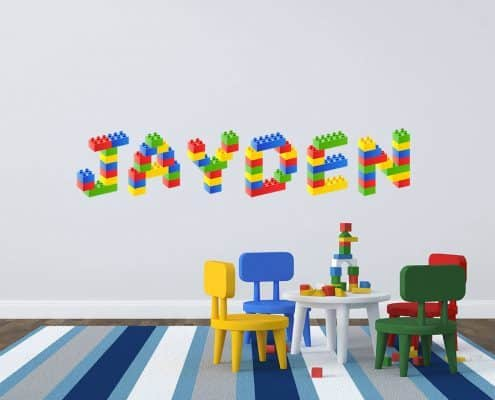 Personalised name Lego blocks