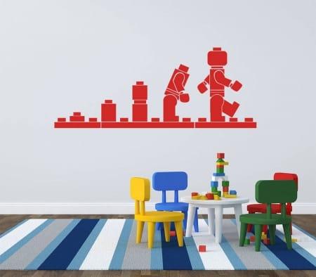 Lego evolution wall decal sticker
