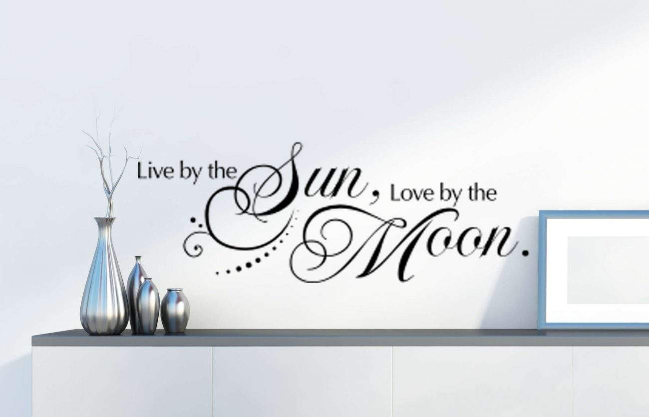 Live by the sun love by the moon wall decal sticker