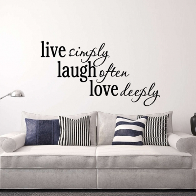 Live simply laugh often love deeply wall decal sticker