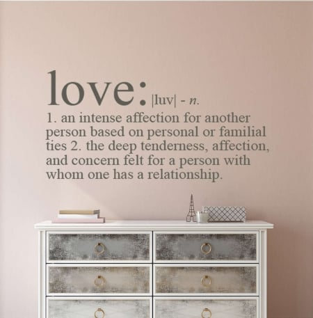 Love definition wall decal sticker