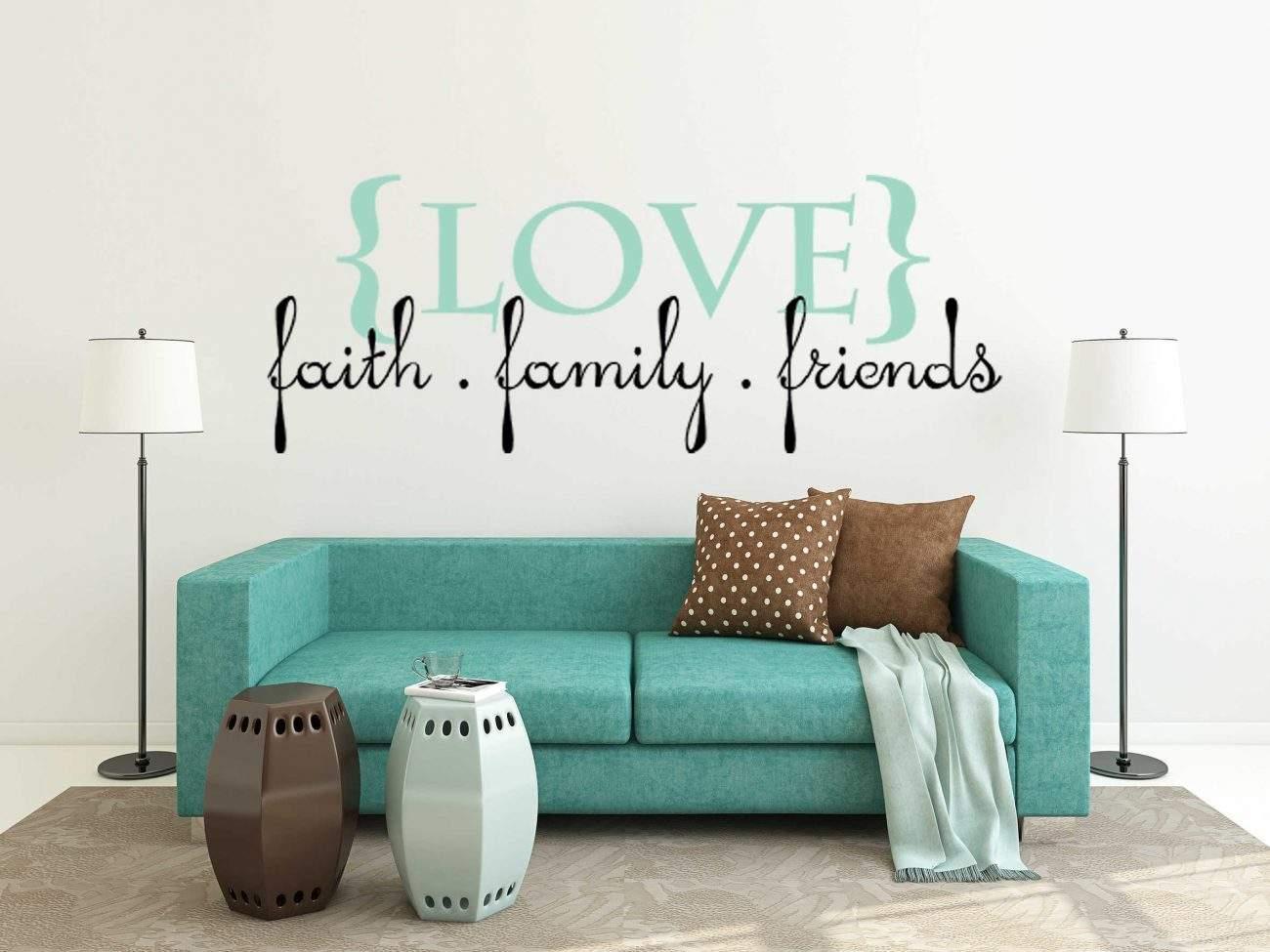 Love faith family friends wall decal sticker