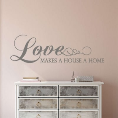 Love makes a house a home wall decal sticker