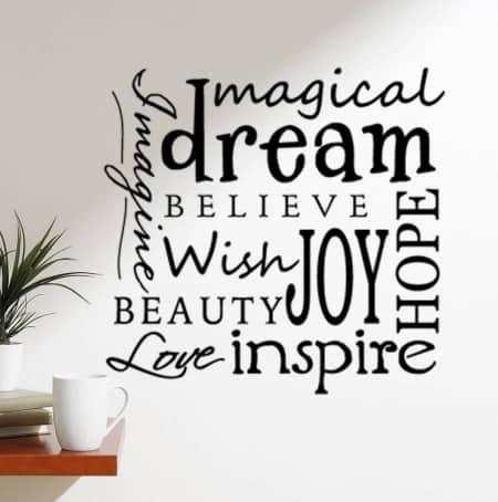 Magical dream wall decal sticker