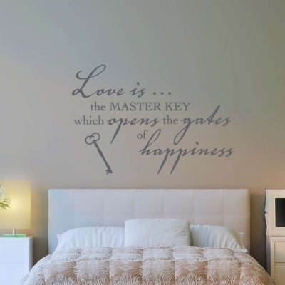 Love is the master key wall decal sticker