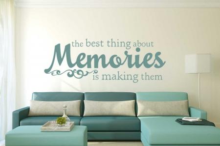 Memories wall decal sticker