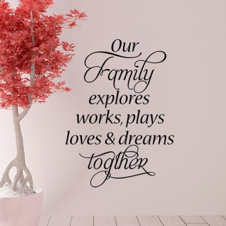 Our family wall decal sticker