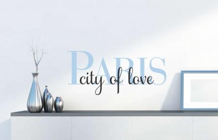 Paris city of love wall decal sticker