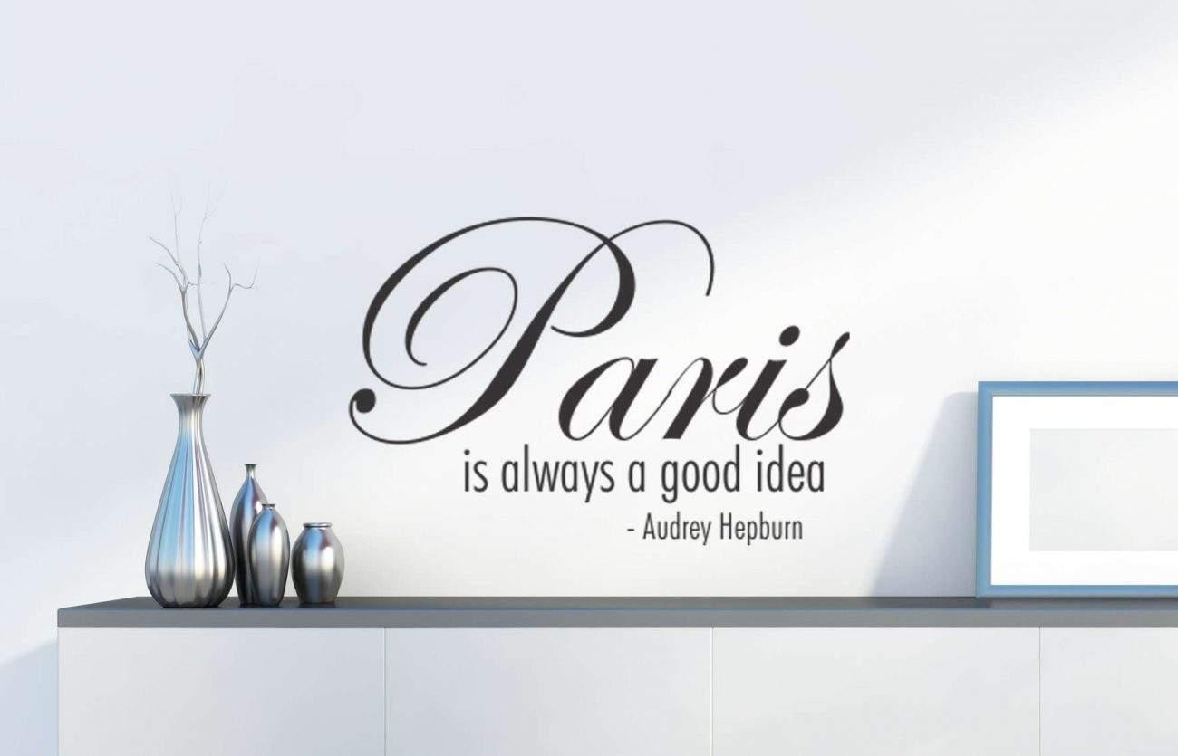 Paris is always a good idea wall decal sticker | Paris is always a good idea - Audrey Hepburn | paris wall decals Ireland | Audrey Hepburn wall stickers