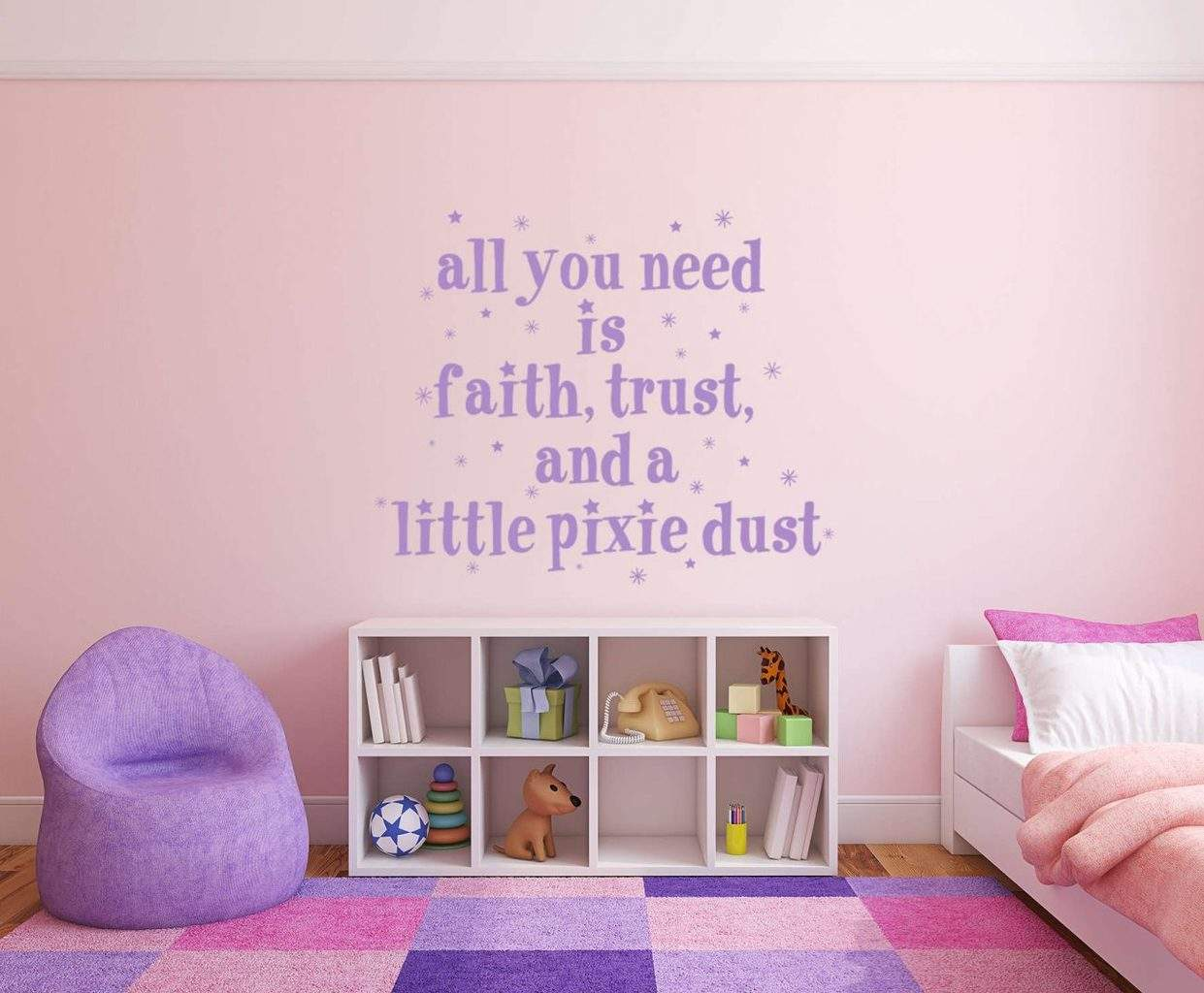Faith trust and a little pixie dust wall decal sticker