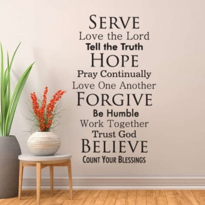 Serve the lord wall decal sticker