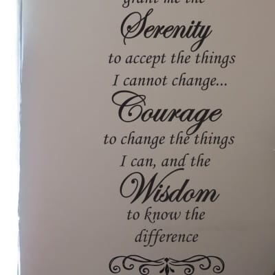 Serenity poem wall decal sticker