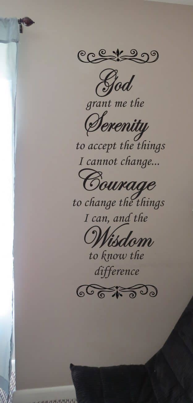 Serenity poem wall decal sticker