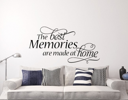 The best memories are made at home wall decal sticker