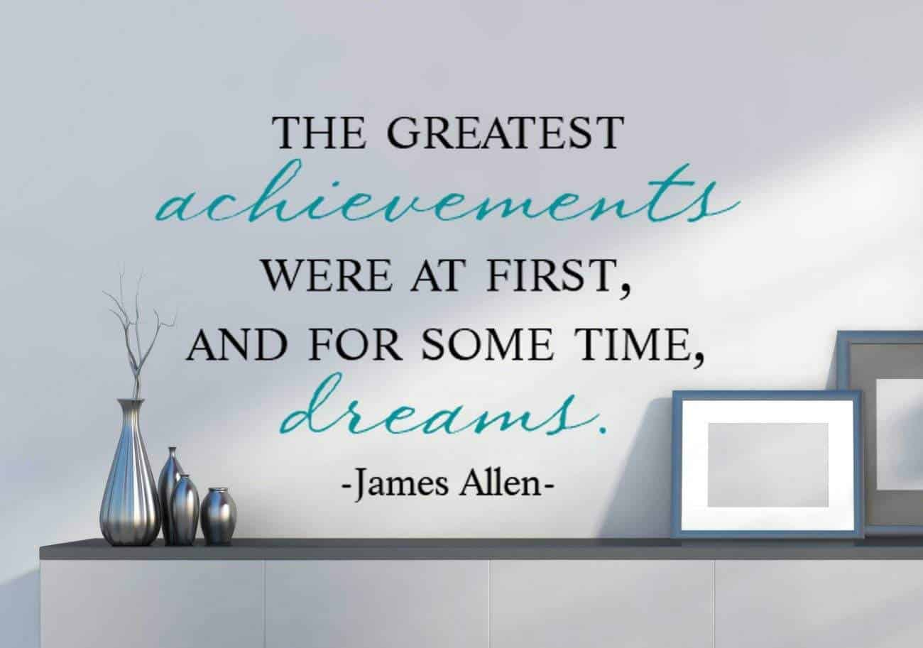 Greatest achievements wall decal sticker