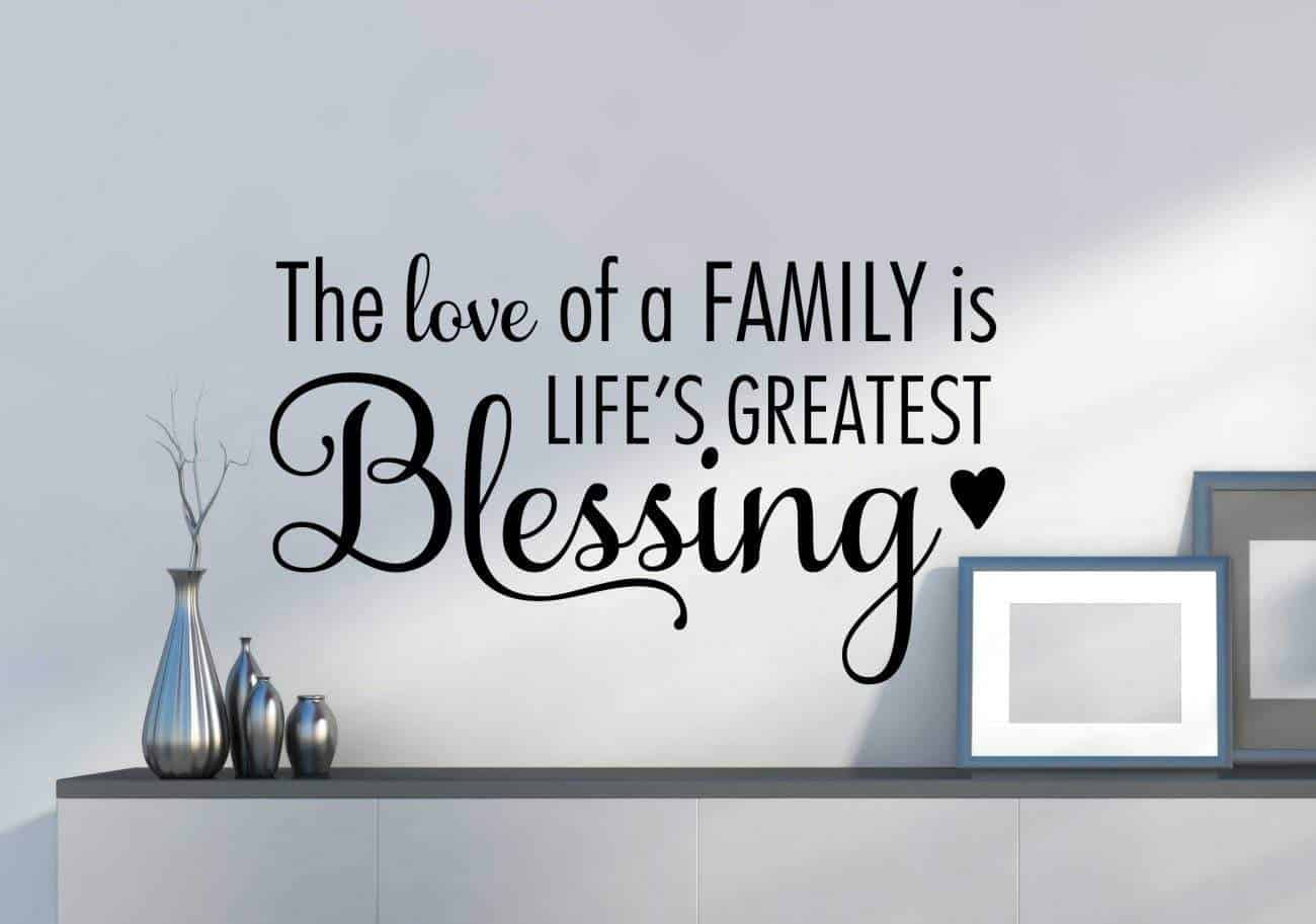 The love of a family wall decal sticker