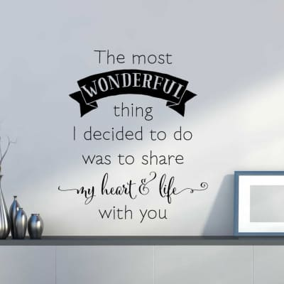 Share my heart & life with you wall decal sticker
