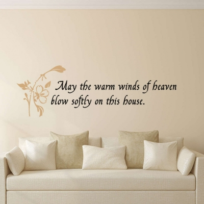 Warm winds of heaven wall decal sticker