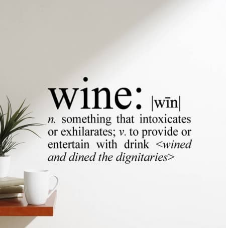 Wine definition wall decal sticker