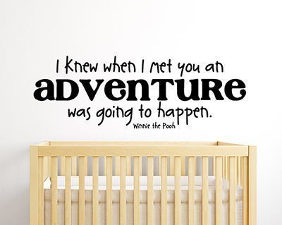 Adventure Winnie the pooh wall decal sticker