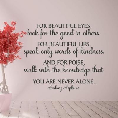 Beautiful eyes Audrey Hepburn wall decal sticker