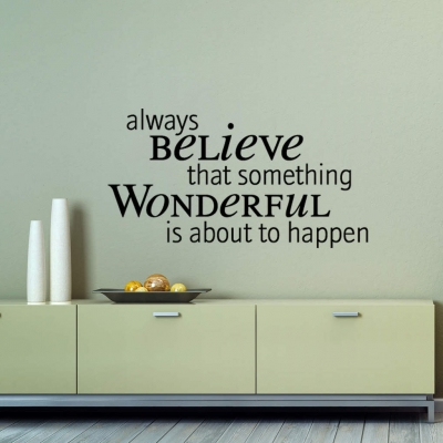 Something wonderful wall decal sticker