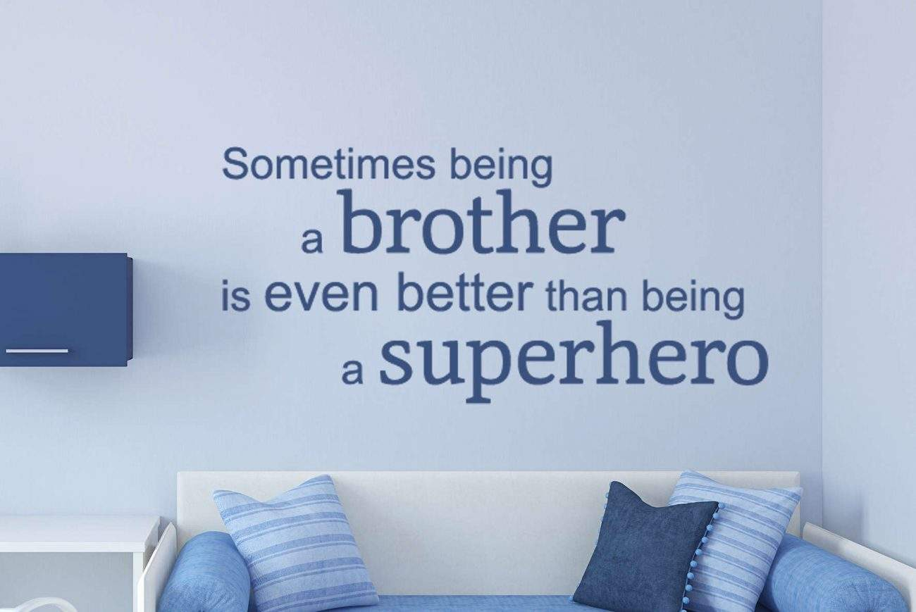 Brother superhero wall decal sticker