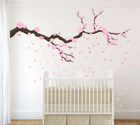 Blossom tree branch wall decal   wall decal
