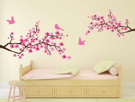 Blossom branches wall decal