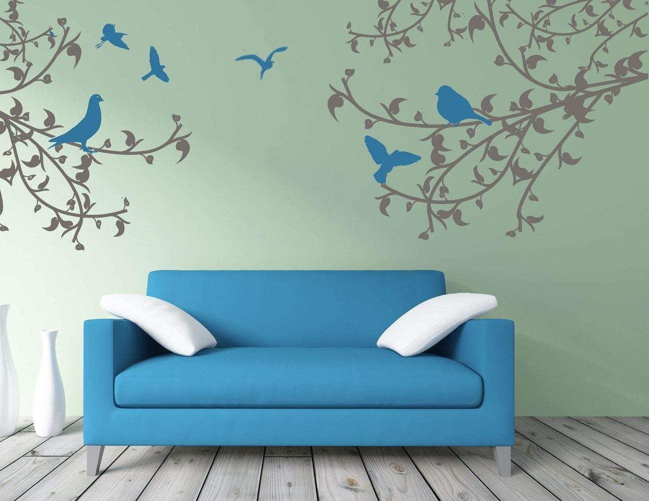 Bird branches wall decal