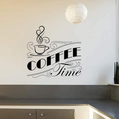 Coffee time wall decal