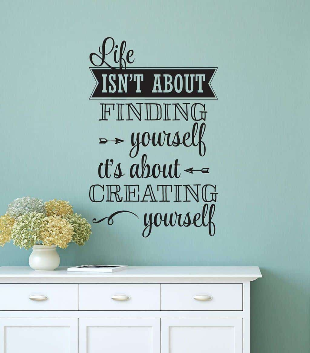 Creating yourself wall decal sticker